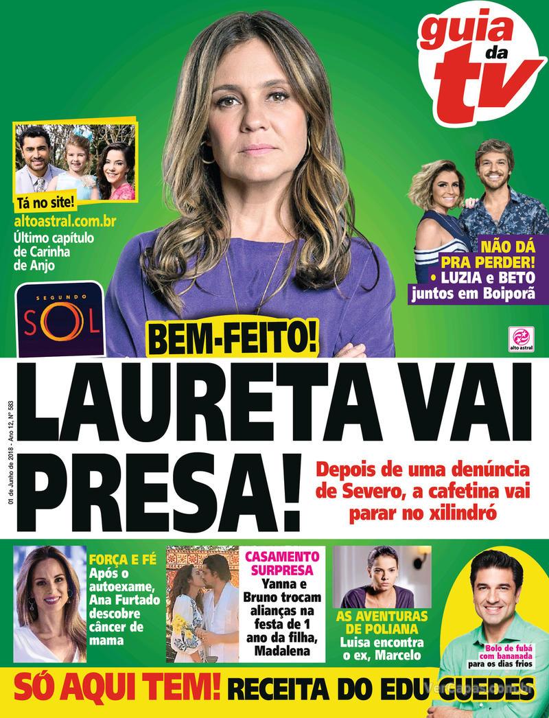 Capa da revista Guia da Tevê 30/05/2018