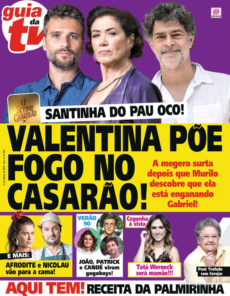 Capa da revista Guia da Tevê 06/03/2019