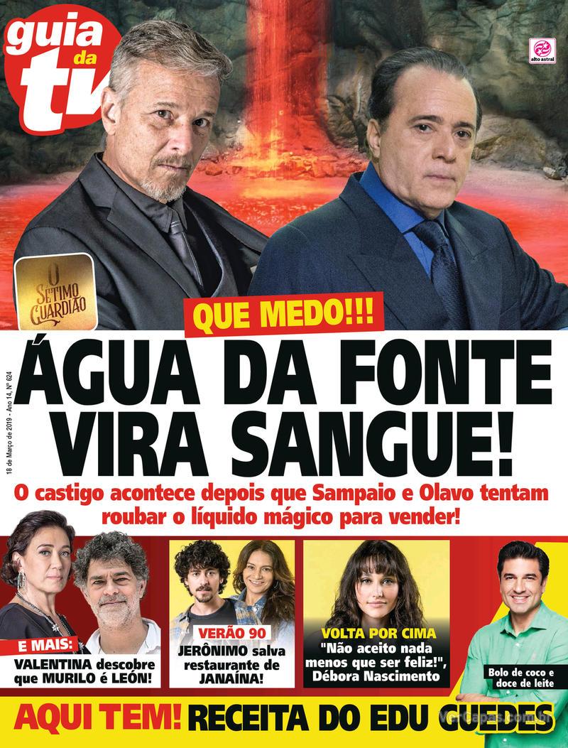 Capa da revista Guia da Tevê 13/03/2019