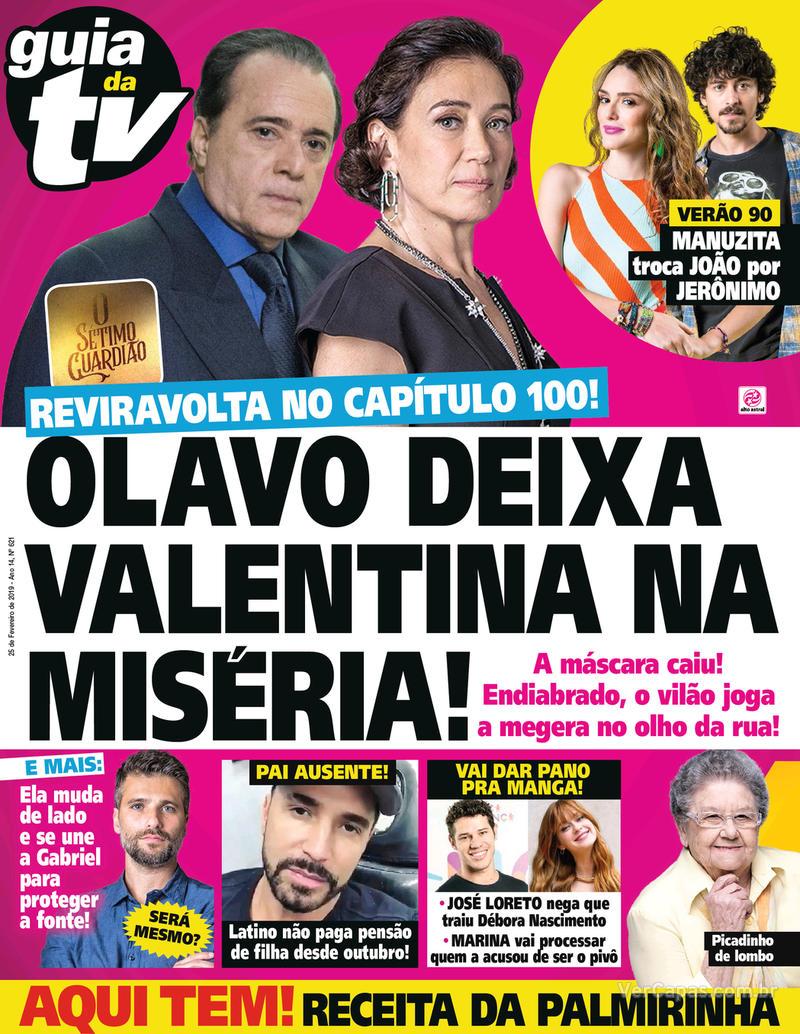 Capa da revista Guia da Tevê 20/02/2019