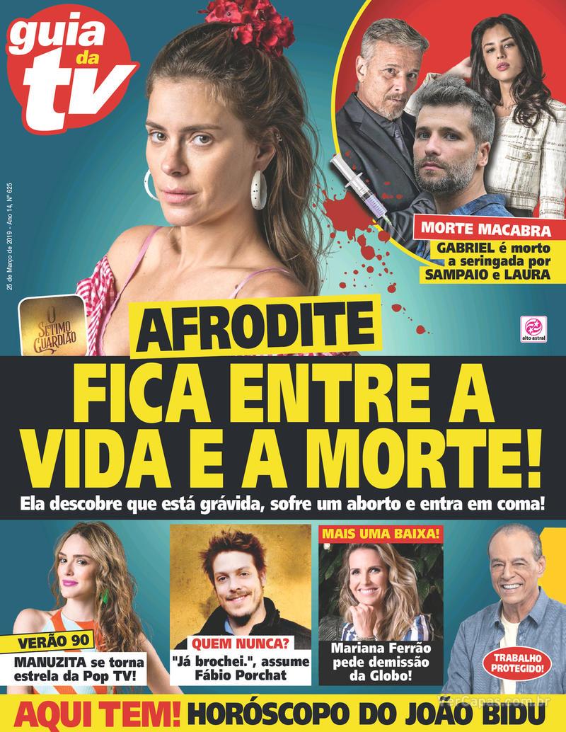 Capa da revista Guia da Tevê 20/03/2019