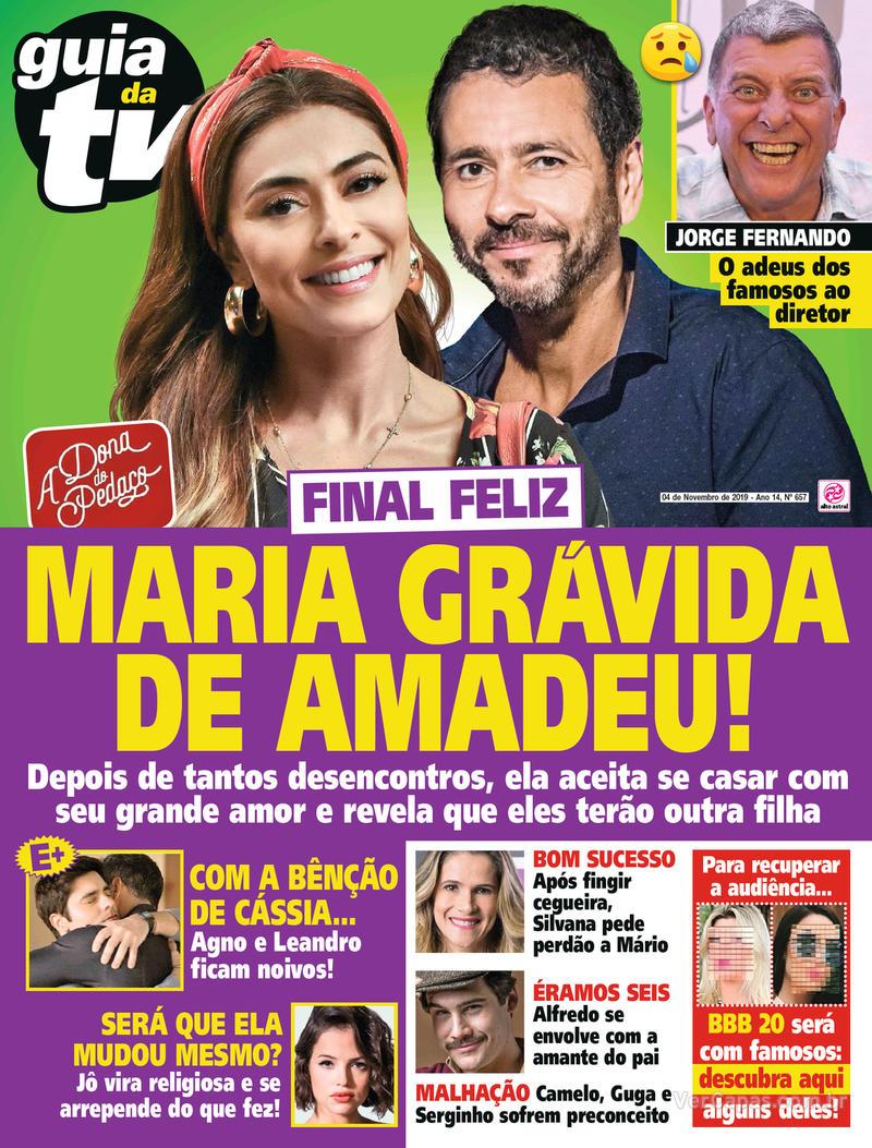 Capa da revista Guia da Tevê 01/11/2019