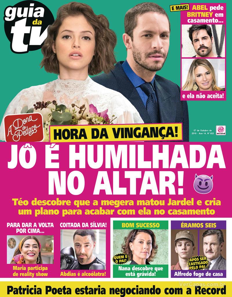 Capa da revista Guia da Tevê 04/10/2019