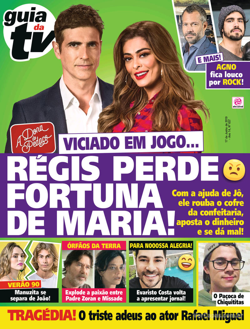 Capa revista Guia da Tevê 14/06/2019