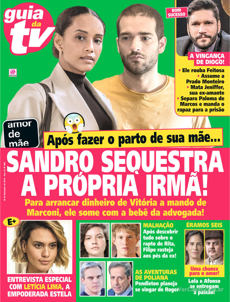 Capa da revista Guia da Tevê 27/12/2019