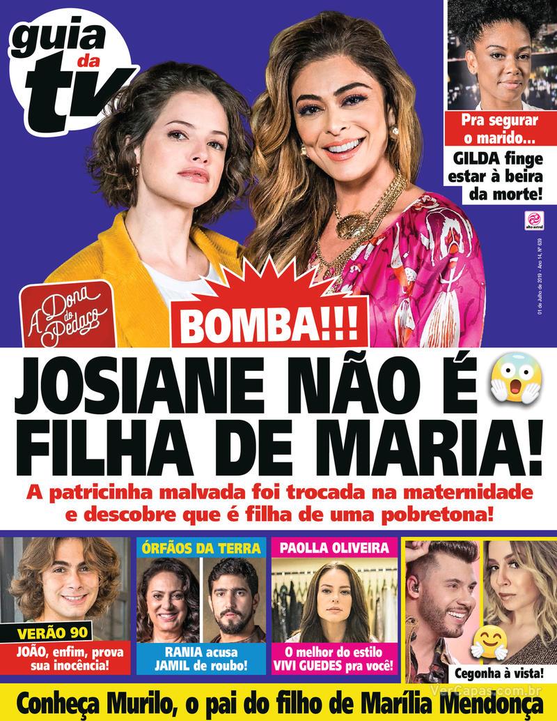 Capa da revista Guia da Tevê 28/06/2019