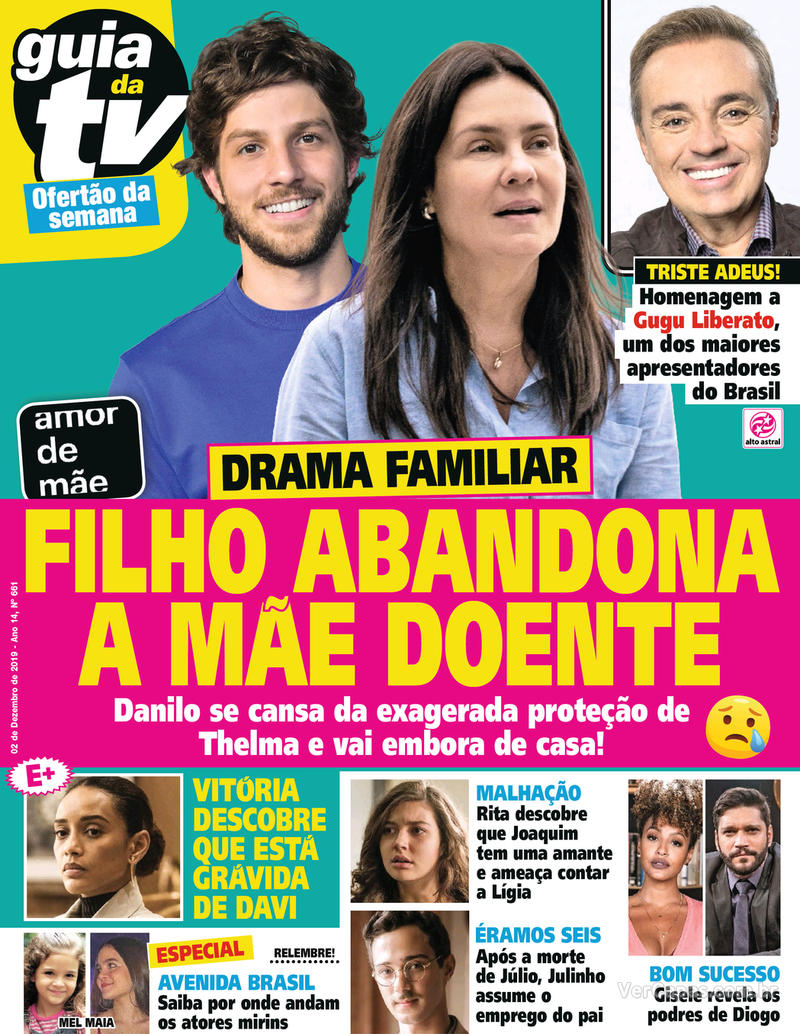 Capa da revista Guia da Tevê 29/11/2019