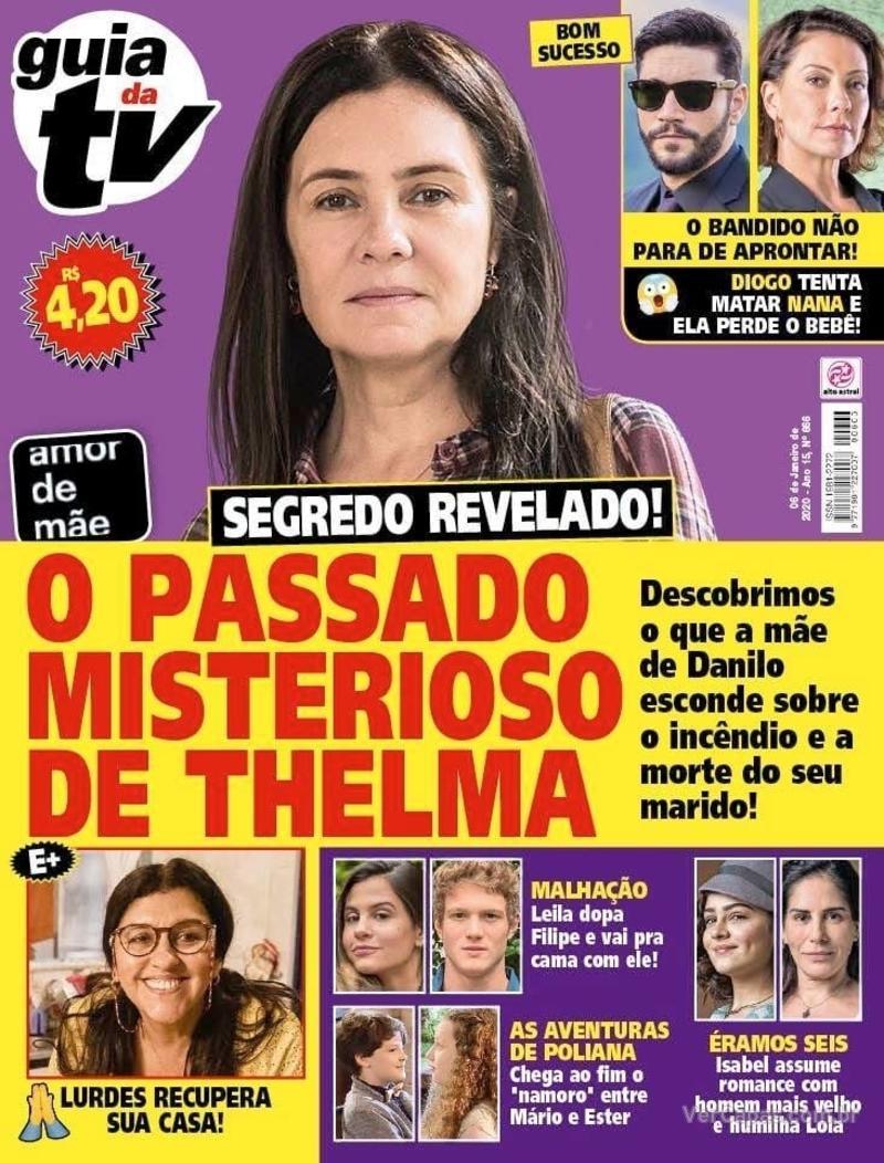 Capa da revista Guia da Tevê 03/01/2020
