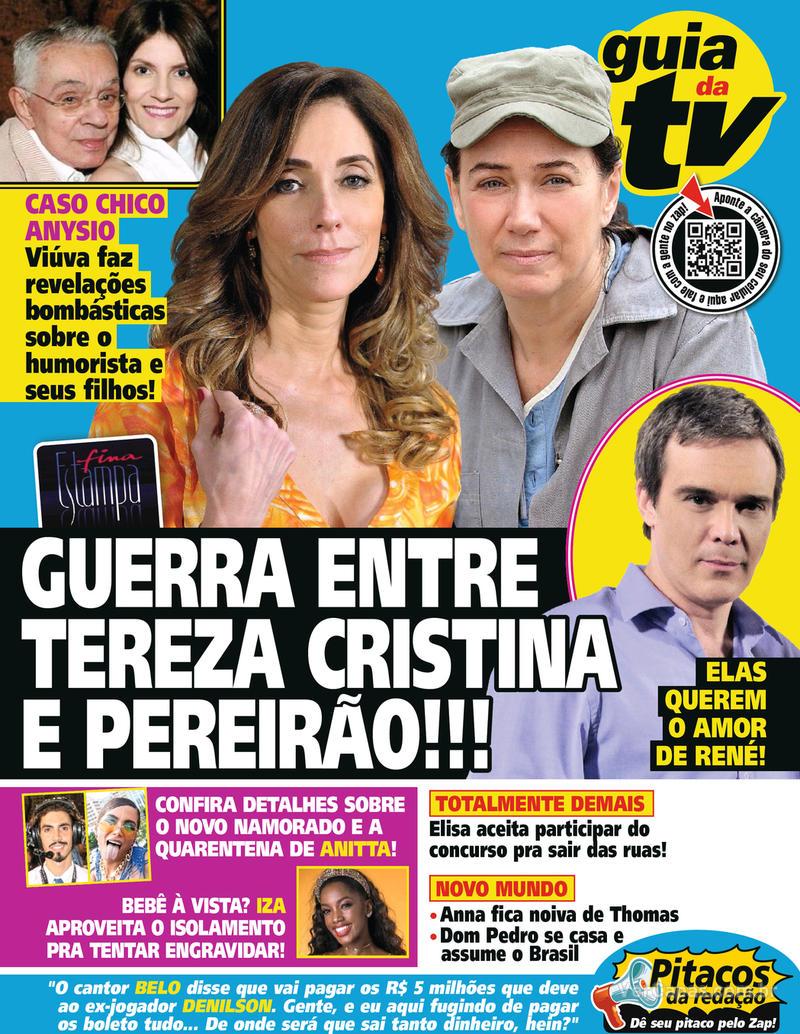 Capa da revista Guia da Tevê 03/04/2020