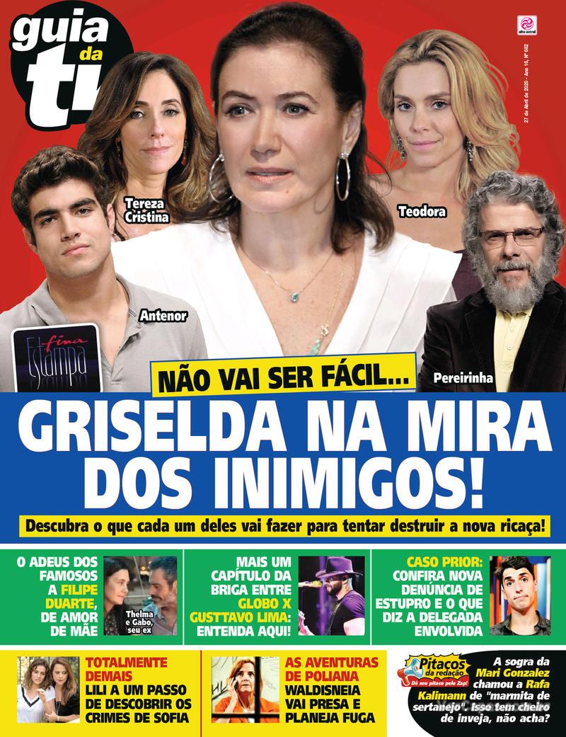 Capa da revista Guia da Tevê 24/04/2020