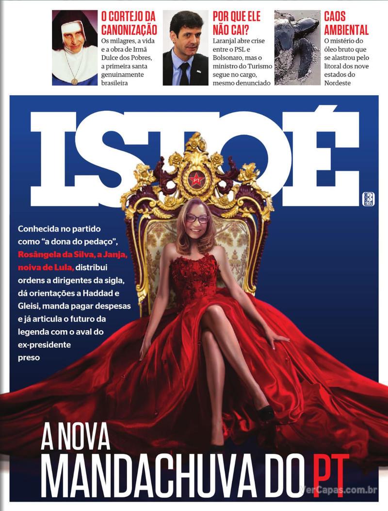 Capa revista ISTOÉ 11/10/2019
