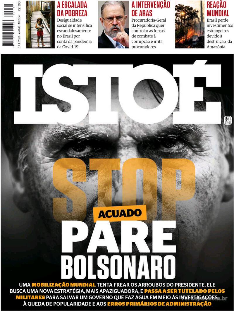 Capa da revista ISTOÉ 03/07/2020