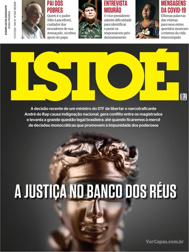 Capa da revista ISTOÉ 16/10/2020