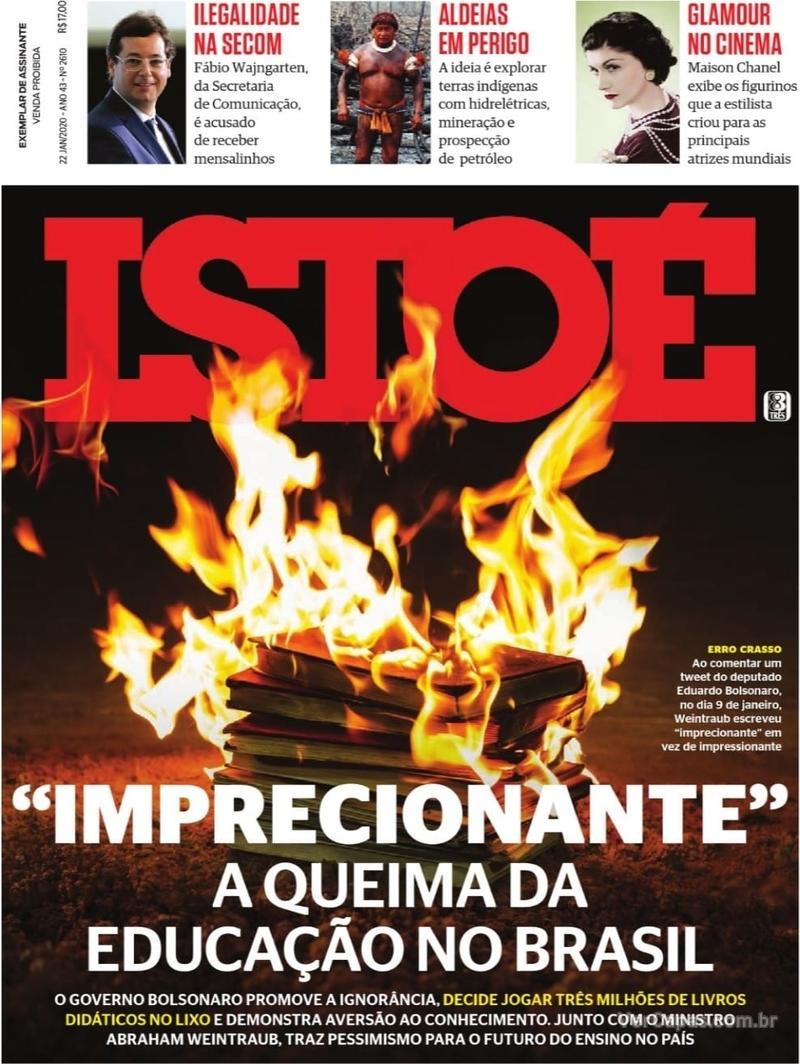 Capa revista ISTOÉ 17/01/2020