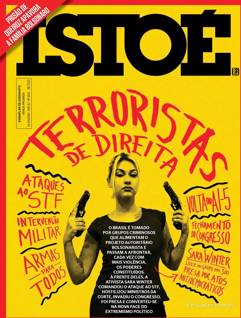 Capa da revista ISTOÉ 19/06/2020