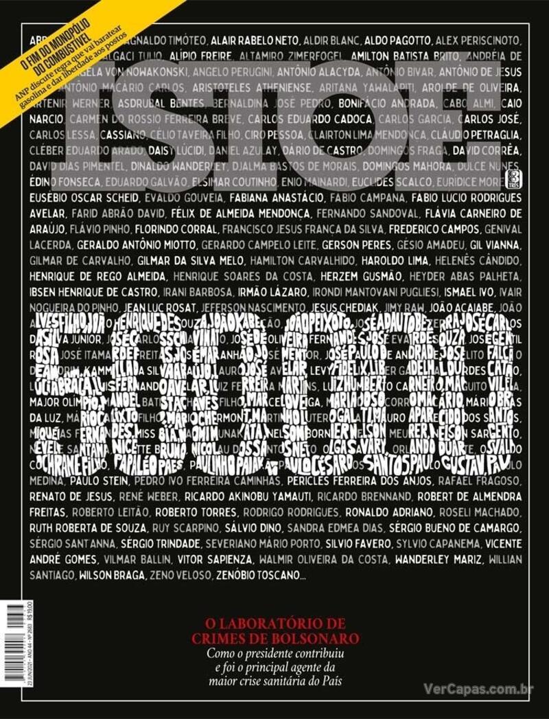 Capa da revista ISTOÉ 18/06/2021