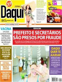 Capa do jornal Jornal Daqui 03/12/2020