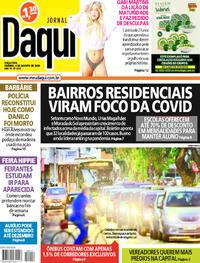 Capa do jornal Jornal Daqui 04/08/2020