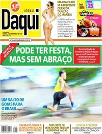 Capa do jornal Jornal Daqui 04/12/2020