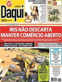 Capa do jornal Jornal Daqui 08/07/2020