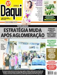 Capa do jornal Jornal Daqui 08/08/2020