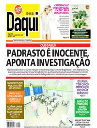 Capa do jornal Jornal Daqui 11/08/2020