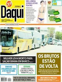 Capa do jornal Jornal Daqui 17/10/2020