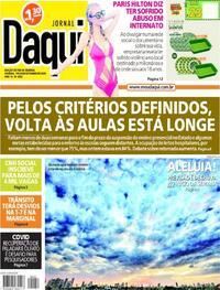 Capa do jornal Jornal Daqui 19/09/2020