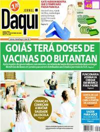 Capa do jornal Jornal Daqui 21/10/2020