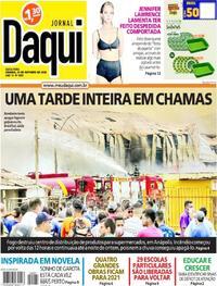 Capa do jornal Jornal Daqui 23/10/2020
