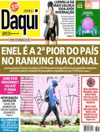 Capa do jornal Jornal Daqui 25/05/2020