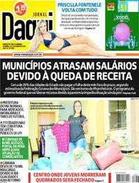 Capa do jornal Jornal Daqui 30/05/2020