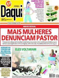 Capa do jornal Jornal Daqui 03/08/2021