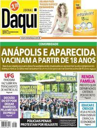 Capa do jornal Jornal Daqui 14/05/2021