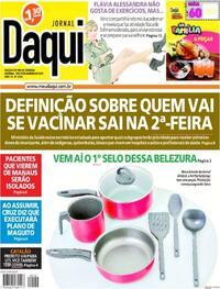 Capa do jornal Jornal Daqui 16/01/2021