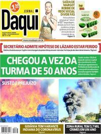 Capa do jornal Jornal Daqui 19/06/2021