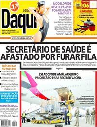 Capa do jornal Jornal Daqui 23/01/2021