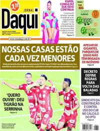 Capa do jornal Jornal Daqui 25/09/2021