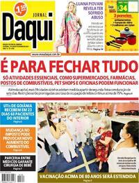 Capa do jornal Jornal Daqui 27/02/2021