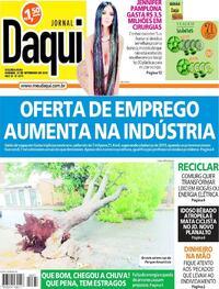 Capa do jornal Jornal Daqui 27/09/2021