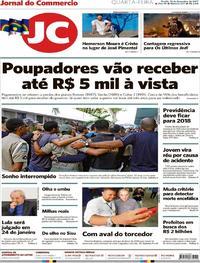 Capa Jornal do Commercio 2017-12-13