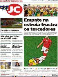 Capa Jornal do Commercio 2018-06-18
