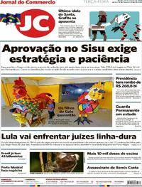 Capa Jornal do Commercio 2018-01-23