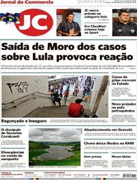 Capa Jornal do Commercio 2018-04-26