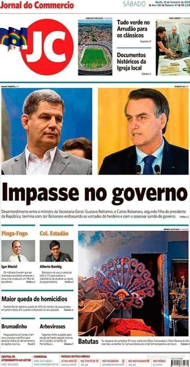 Capa Jornal do Commercio 2019-02-16