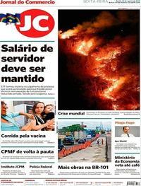 Capa Jornal do Commercio 2019-08-23