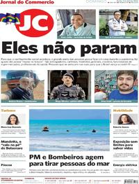 Capa do jornal Jornal do Commercio 05/04/2020