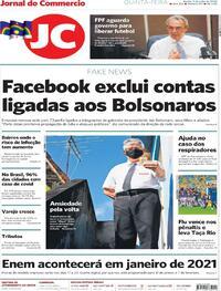 Capa do jornal Jornal do Commercio 09/07/2020