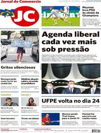Capa do jornal Jornal do Commercio 13/08/2020