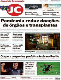 Capa do jornal Jornal do Commercio 19/09/2020
